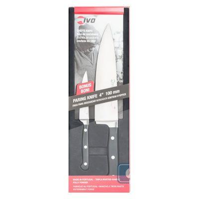 IVO CUTELARIAS LDA - Ivo 2483 Dövme Çelik Şef + Soyma Bıçağı 2li Set